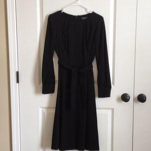 NWT Brooks Brothers 100% black wool dress, size 6